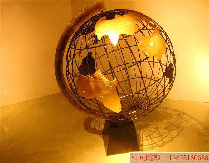 不锈钢地球仪雕塑