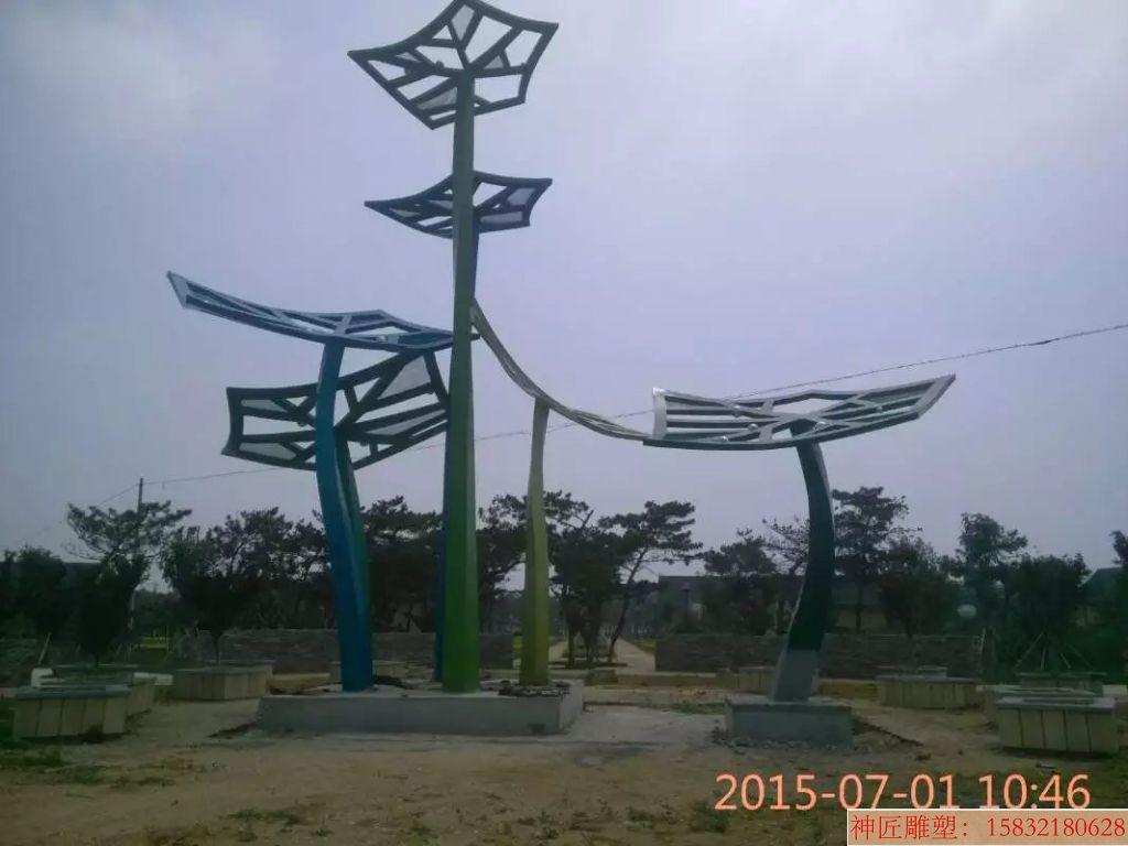 不锈钢枫叶雕塑 广场枫叶雕塑